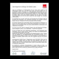 Brief unserer Markträte zum beschlossenen Kindergartenneubau
